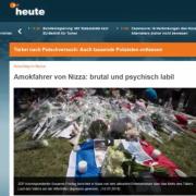 Berichterstattung des ZDF zu Nizza: Ausschnitt: JF-TV