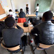 Asylsuchende in einer Schule in Niedersachsen Foto: picture alliance/dpa