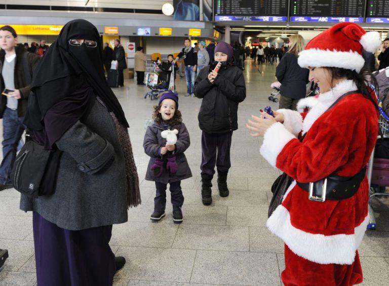Frau mit islamischer Vollverschleierung: