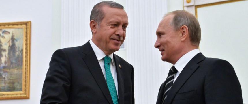 Erdogan und Putin: Gewichte verschieben sich gen Osten Foto: dpa