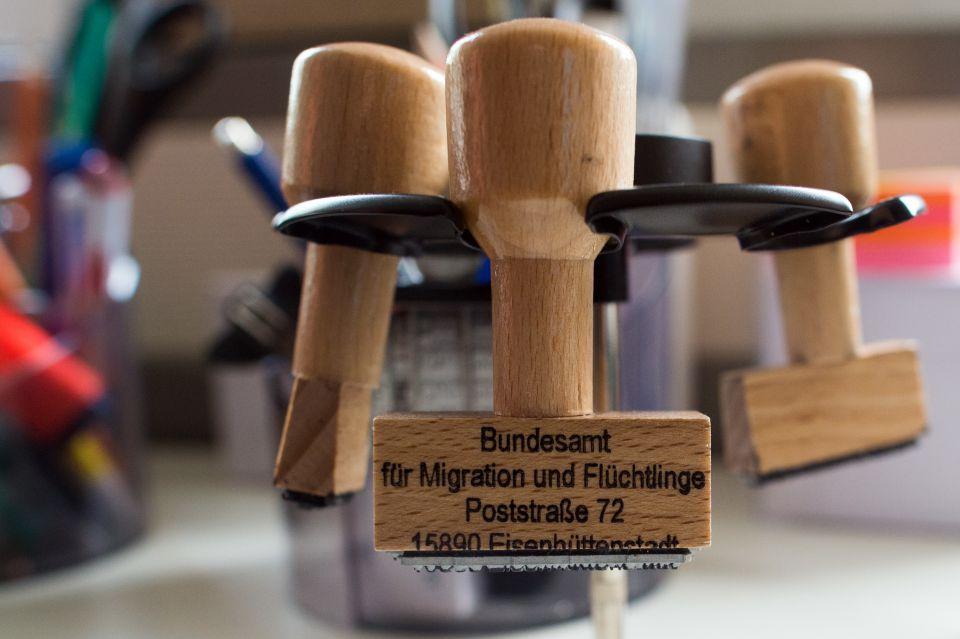 Stempel der Asylbehörde