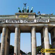 Identitäre Bewegung: Aktivisten besetzten das Brandenburger Tor Foto: Identitäre Bewegung Deutschland