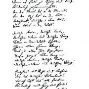 Faksimile der Handschrift Hoffmanns. Das Original liegt in Krakau Foto: Wikimedia gemeinfrei