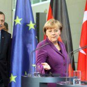 Angela Merkel mit dem türkischen Präsidenten Erdoğan Foto: picture alliance / dpa