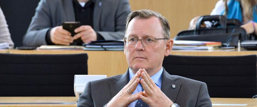 Ministerpräsident Bodo Ramelow (Linke) im Thüringer Landtag Foto: dpa/picture alliance