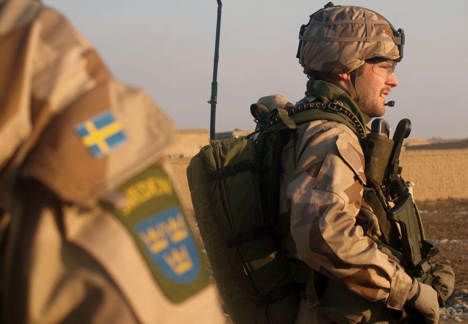 Schwedische Soldaten