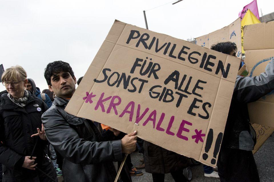 Anti-Abschiebungskundgebung in Hamburg