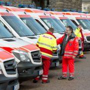 Rettungsdienst: Kugelsichere Westen für die Chemnitzer Einsatzkräfte Foto: picture alliance / ZB