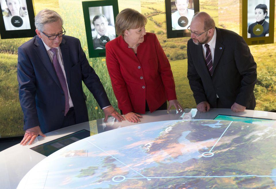 Juncker, Merkel, Schulz
