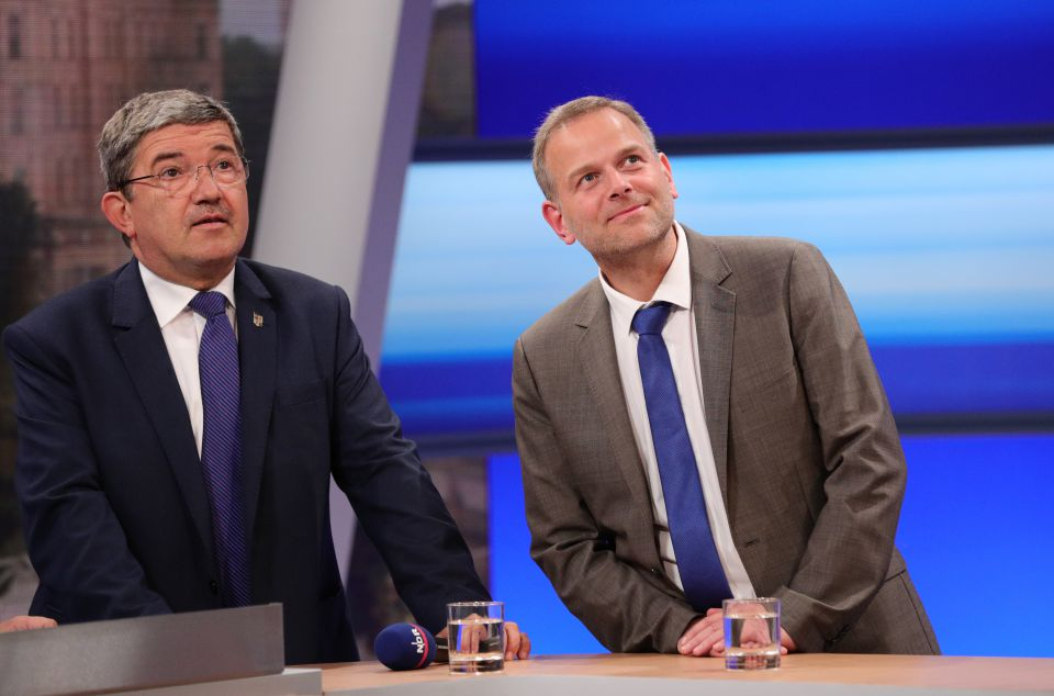 Lorenz Caffier und Leif-Erik Holm