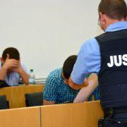 Anklagebank: Der syrische Asylbewerber Mostafa A. wurde zu zwölf Jahren Haft verurteilt Foto: picture alliance / dpa