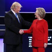 Trump und Clinton: Wenig Substanz Foto: picture alliance/dpa