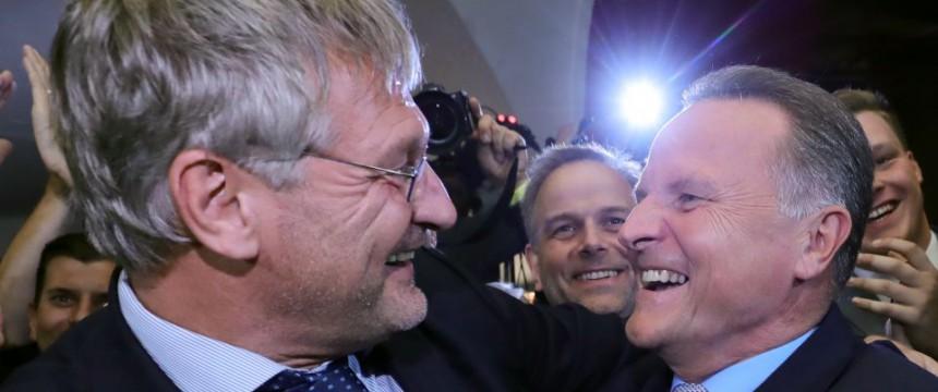 AfD-Chef Jörg Meuthen (links) und Spitzenkandidat Georg Pazderski Foto: picture alliance/dpa