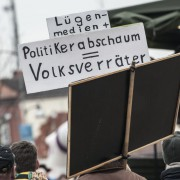 Demonstration in Brandenburg Foto: picture alliance/dpa