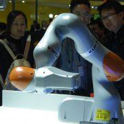 Kuka-Roboter: Unternehmen gehört zum Großteil chinesischen Investoren Foto: dpa