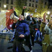Französische Polizisten: Protestieren gegen Arbeitsbedingungen und Attacken auf Kollegen Foto: dpa