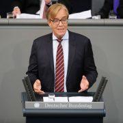 Der Fraktionsvorsitzende der Linken, Dietmar Bartsch, im Bundestag. Foto: picture alliance / dpa