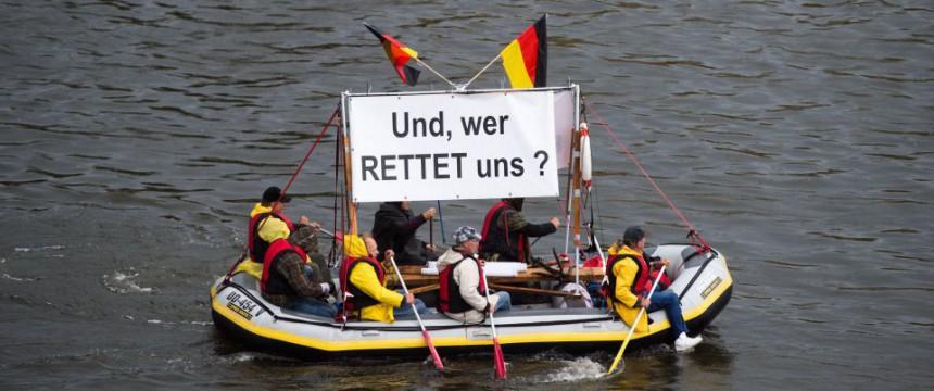 Proteste am Tag der Deutschen Einheit in Dresden Foto: picture alliance/dpa