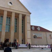 """Schauspielhaus Hellerau in Dresden, wo die Dresdner Sinfoniker das Konzertprojekt """"Aghet"""" aufführten Foto: picture alliance / dpa"""