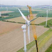 Bau neuer Windräder Foto: picture alliance / dpa
