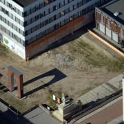 Die Fläche für den geplanten Wiederaufbau der Garnisonkirche in Potsdam Foto: picture alliance/ZB