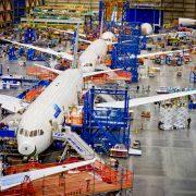 Montagehalle des US-Flugzeugbauers Boeing Foto: picture alliance / dpa