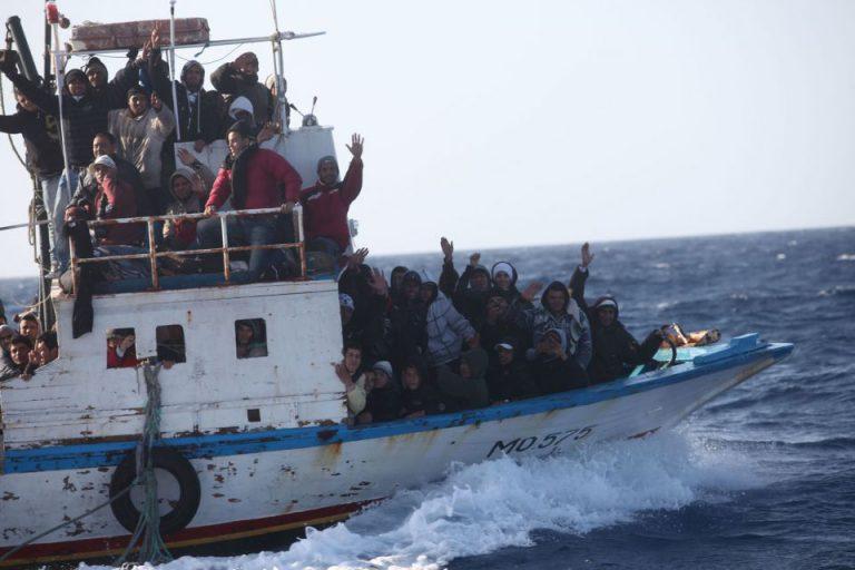 Asylsuchende vor Lampedusa