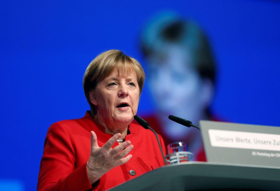 Angela Merkel auf dem Bundesparteitag