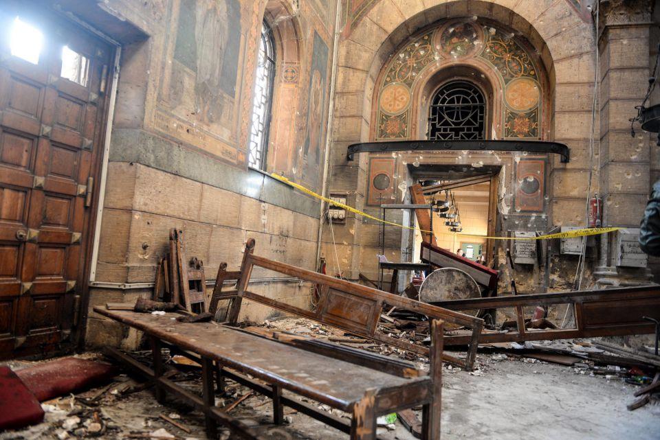 Zerstörte Kathedrale in Kairo