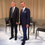 Hofer und Van der Bellen:  Sie lieferten sich bei der Präsidentschaftswahl ein Kopf-an-Kopf-Rennen Foto: FPÖ