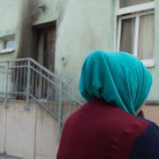 Die Fatih-Camii-Moschee in Dresden nach dem Anschlag Ende September Foto: picture alliance/dpa