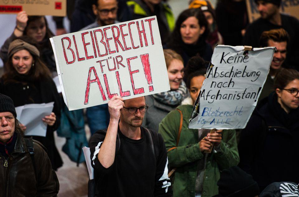 Protest gegen Abschiebung