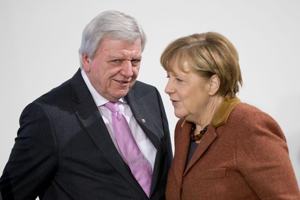 Bouffier und Merkel