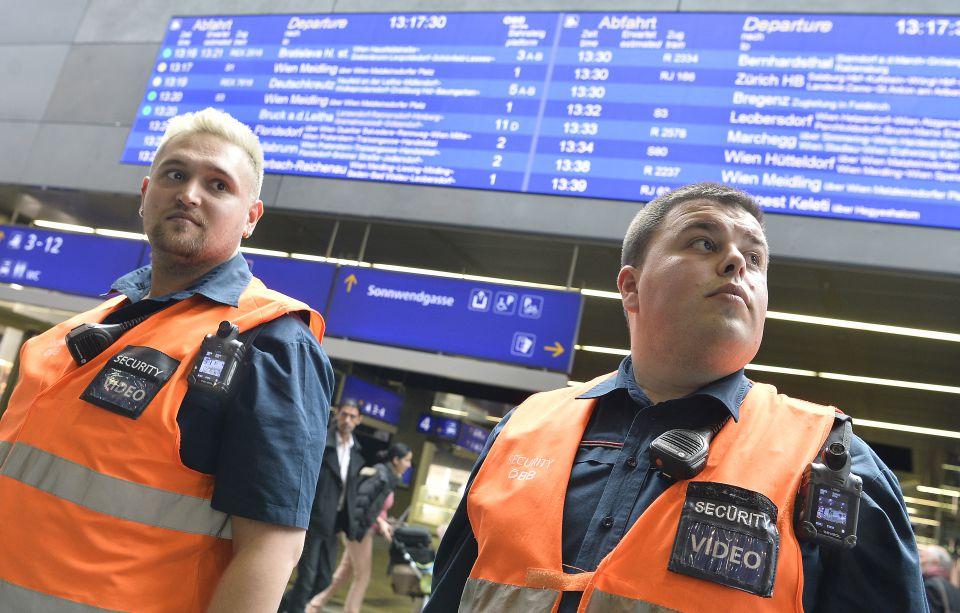 Bahn-Sicherheitspersonal