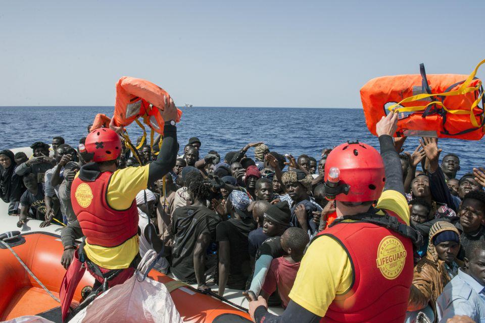 Illegale Einwanderer auf dem Mittelmeer