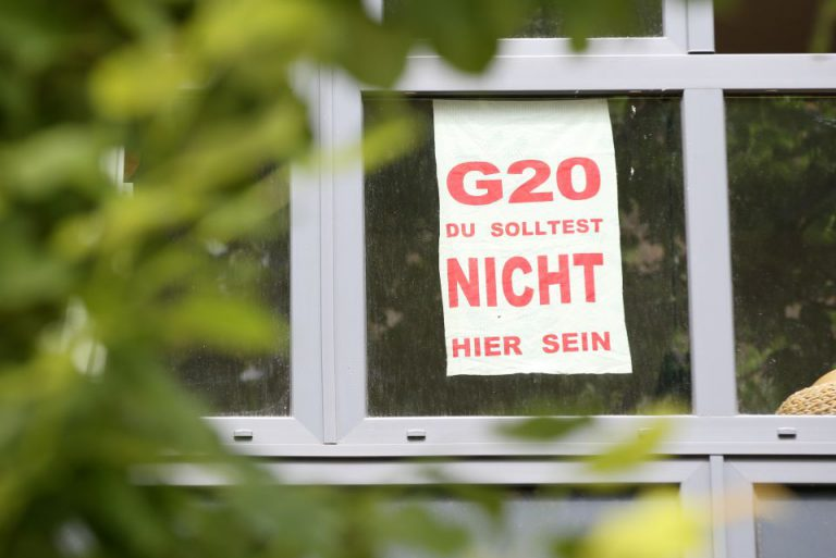 Anti-G20-Plakat