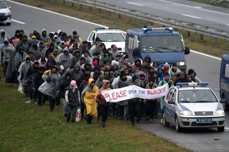 Flüchtlinge auf dem Weg nach Kroatien