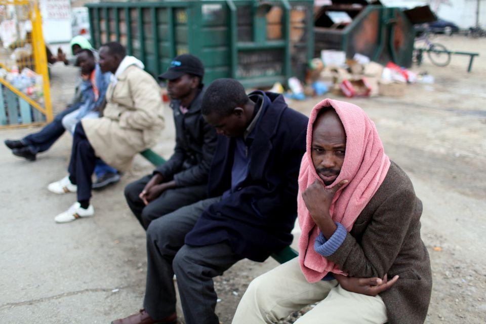 Afrikanische Flüchtlinge