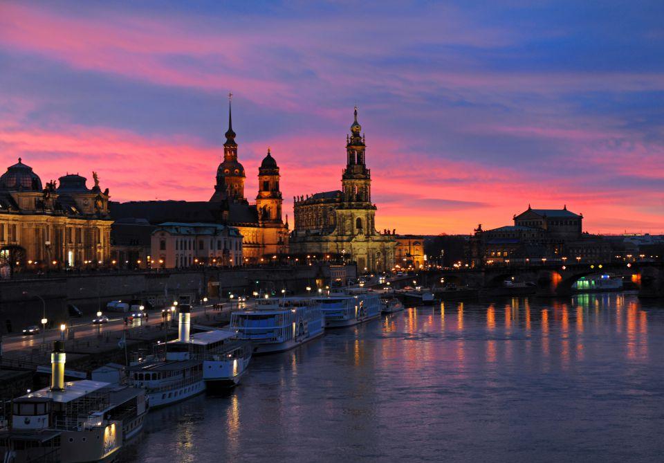 Abendort über Dresden
