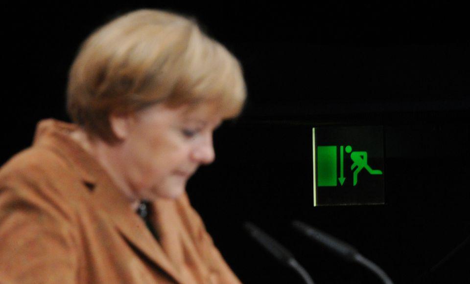 Den Abwärtstrend vor Augen: Bundeskanzlerin Angela Merkel (CDU)