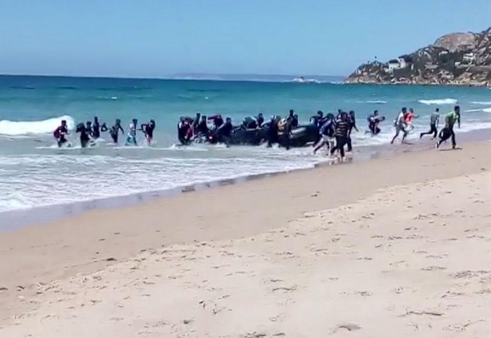 Asylsuchenden landen in Spanien