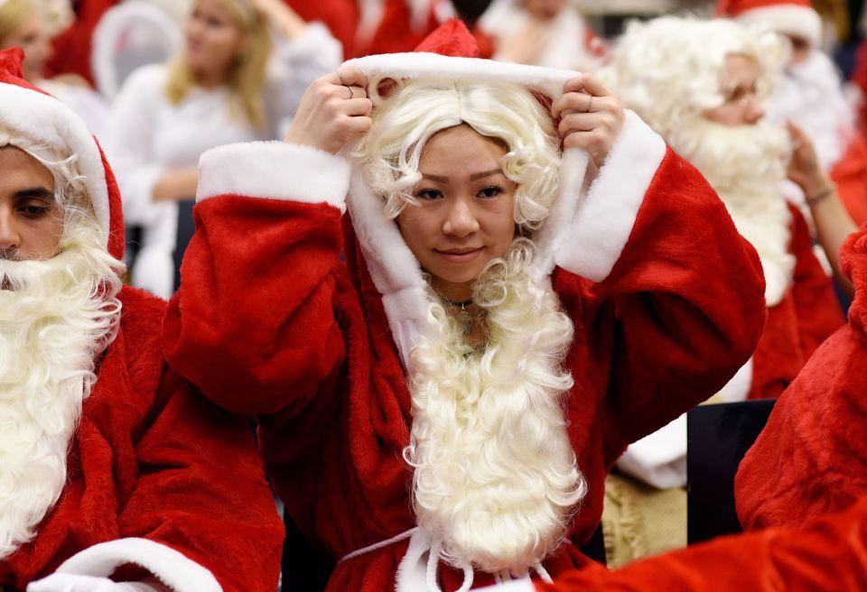 Weihnachtsmannfrau