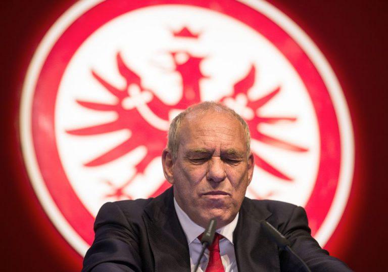 Der Präsident von Eintracht Frankfurt, Peter Fischer