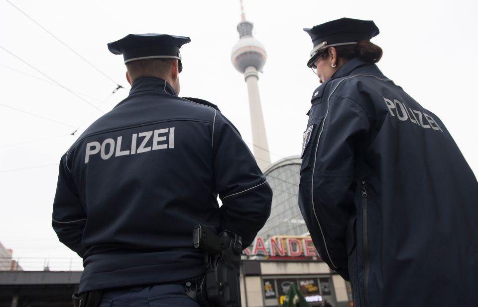 Polizisten in Berlin-Mitte