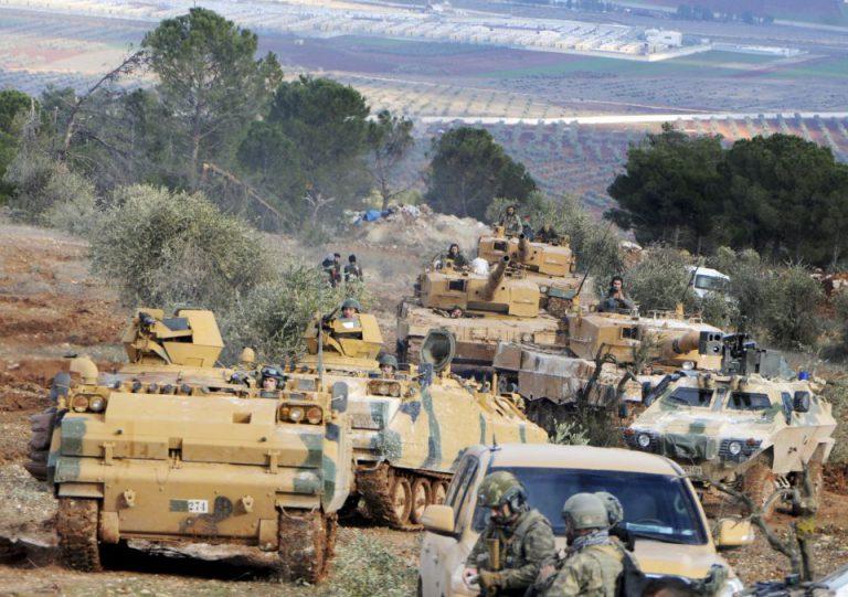 Türkische Truppen bei Afrin