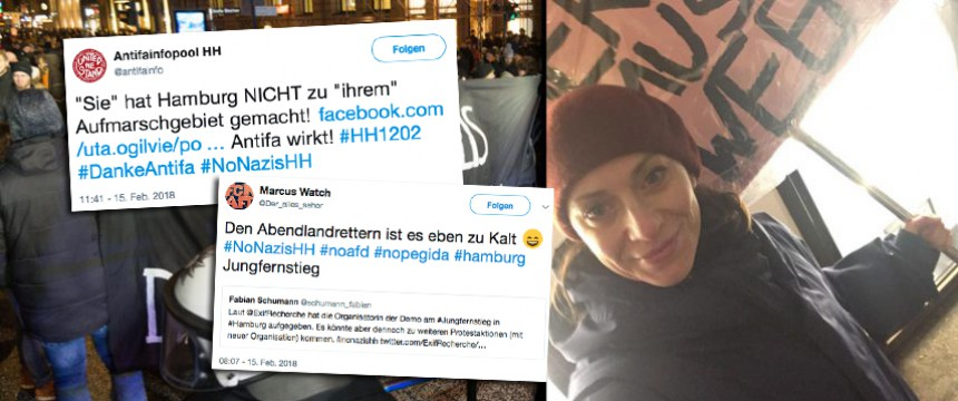 Antifa Jubelt Keine Merkel Muß Weg Demo Mehr Junge Freiheit