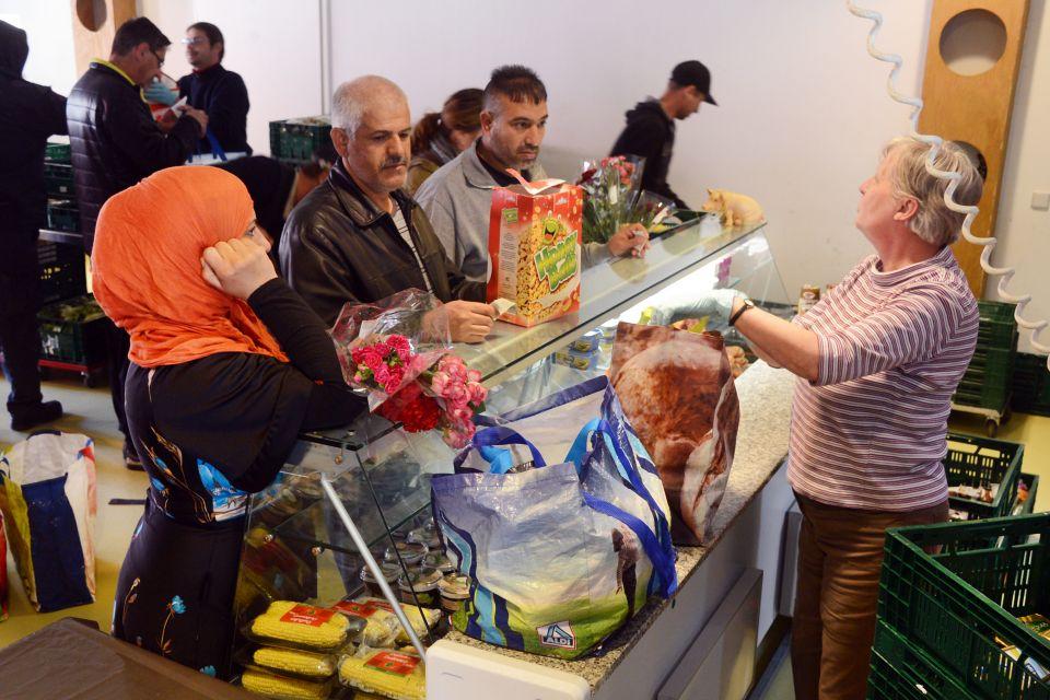 Lebensmittelausgabe bei Tafel