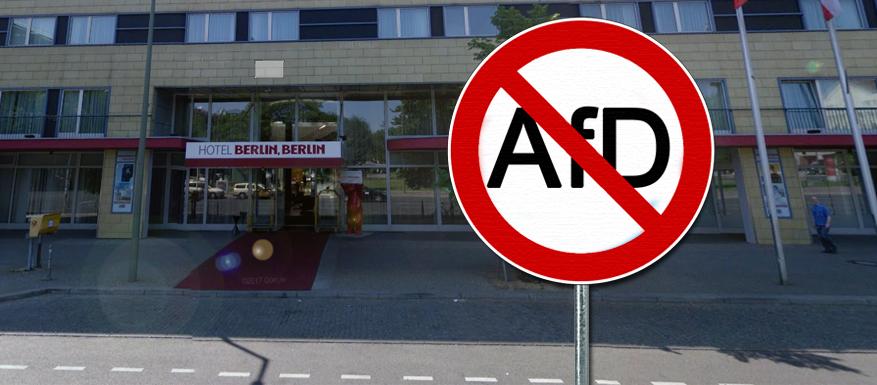Kein Zutritt für die AfD