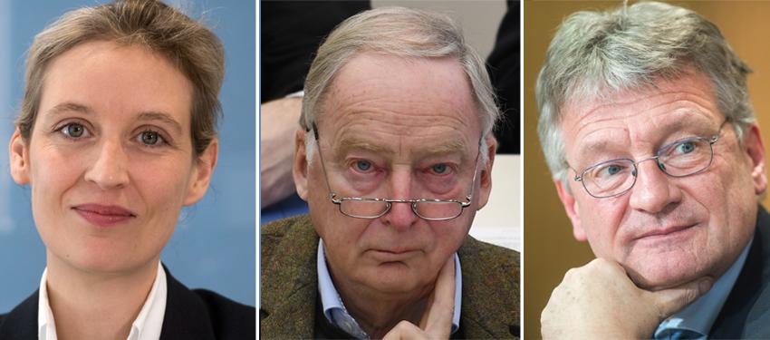 Alice Weidel, Alexander Gauland, Jörg Meuthen