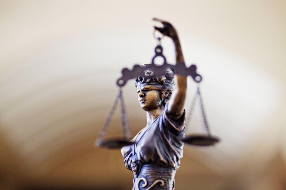 Die blinde Justitia